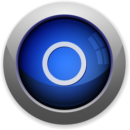 Blue glossy media record web button