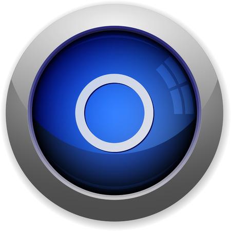 Blue glossy media record web button
