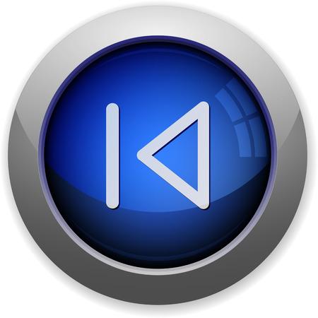 previous: Blue glossy media previous web button Illustration