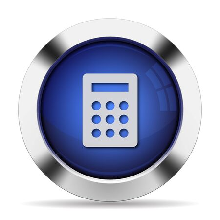 calc: Blue glossy steel calc button