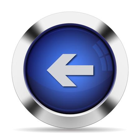blue arrow: Blue glossy steel left arrow button. Arranged layer structure.