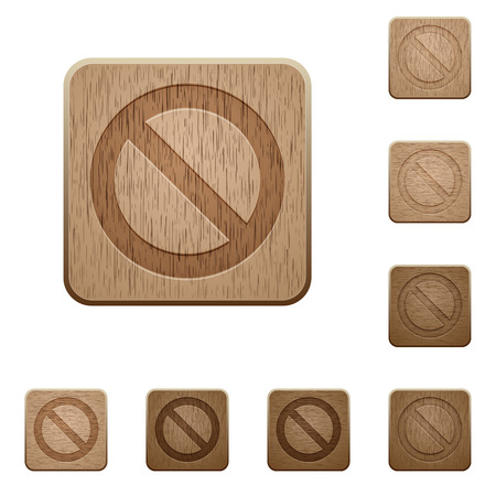 carved: Set of carved wooden blocked buttons. 8 variations included. Arranged layer structure.