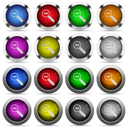 buttons web: Set of zoom out glossy web buttons. Arranged layer structure.