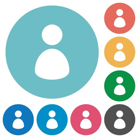 permissions: Flat user icon set on round color background. Light color theme.