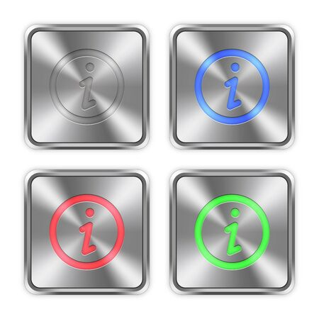 color swatches: Color information icons engraved in glossy steel push buttons. Well organized layer structure, color swatches and graphic styles.
