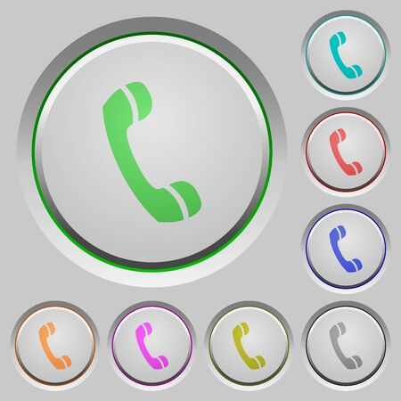 humped: Set of call sunk push buttons. Well-organized layer, color swatch and graphic style structure. Easy to recolor. Illustration