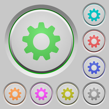 humped: Set of settings sunk push buttons. Well-organized layer, color swatch and graphic style structure. Easy to recolor.