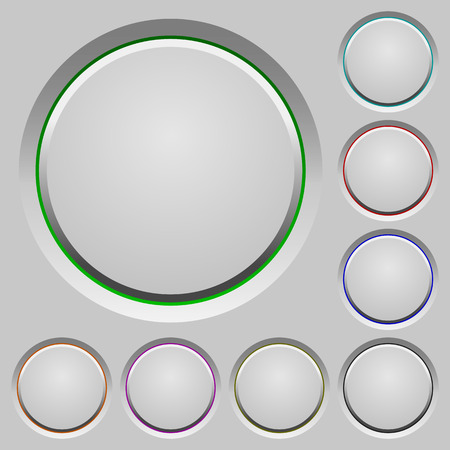 humped: Set of blank sunk push buttons. Well-organized layer, color swatch and graphic style structure. Easy to recolor.