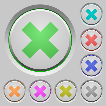 humped: Set of cancel sunk push buttons. Well-organized layer, color swatch and graphic style structure. Easy to recolor. Illustration