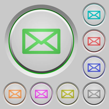 humped: Set of message sunk push buttons. Well-organized layer, color swatch and graphic style structure. Easy to recolor. Illustration