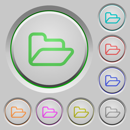 humped: Set of folder sunk push buttons. Well-organized layer, color swatch and graphic style structure. Easy to recolor.