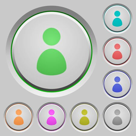 permissions: Set of user sunk push buttons. Well-organized layer, color swatch and graphic style structure. Easy to recolor.