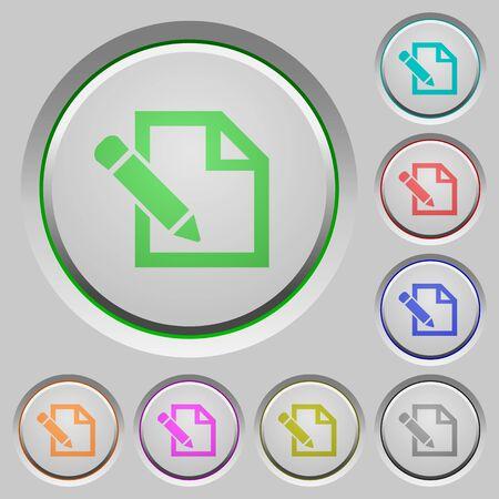 sunk: Set of color edit sunk push buttons.