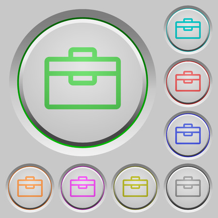 sunk: Set of color toolbox sunk push buttons.