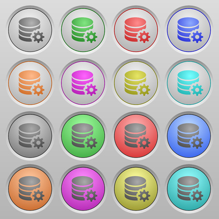 configuration: Set of Database configuration plastic sunk spherical buttons. Illustration