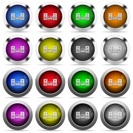 hifi: Set of hifi glossy web buttons. Arranged layer structure.
