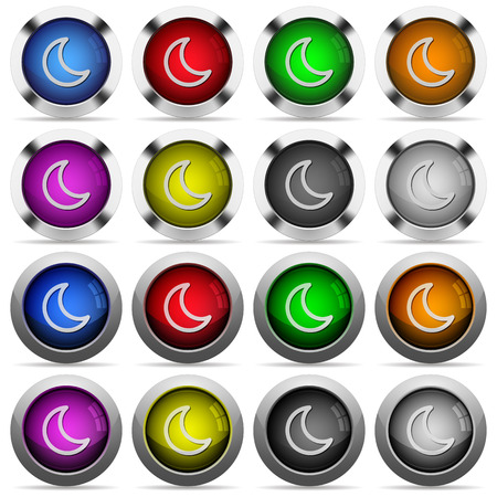 standby: Set of sleep glossy web buttons. Arranged layer structure. Illustration