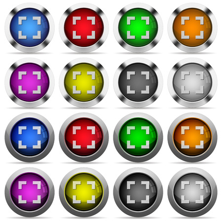 centering: Set of Selector tool glossy web buttons. Arranged layer structure. Illustration