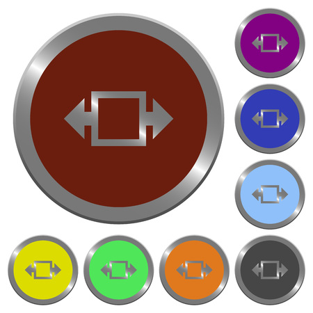 width: Set of glossy coin-like color width tool buttons.