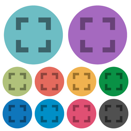 selector: Color selector tool flat icon set on round background.