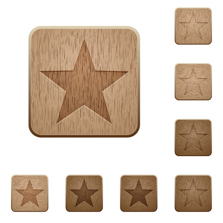 carved: Set of carved wooden favorite buttons in 8 variations.