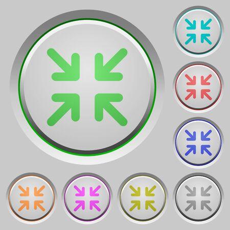 minimize: Set of color Minimize sunk push buttons.