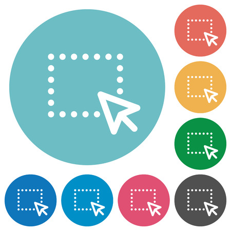 drag: Flat drag icon set on round color background.