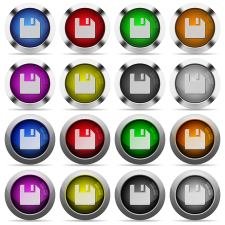 arranged: Set of save glossy web buttons. Arranged layer structure.