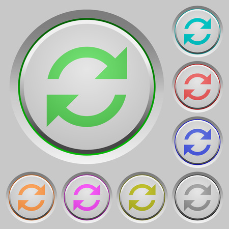 sunk: Set of color refresh sunk push buttons.