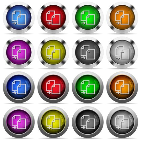 duplication: Set of copy glossy web buttons. Arranged layer structure. Illustration