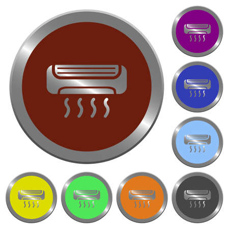 coinlike: Set of color glossy coin-like air conditioner buttons.