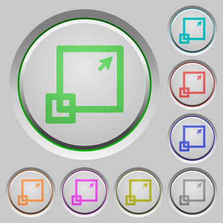 maximize: Set of color Maximize window sunk push buttons.
