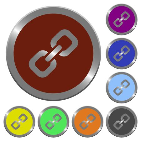 coinlike: Set of color glossy coin-like link buttons.