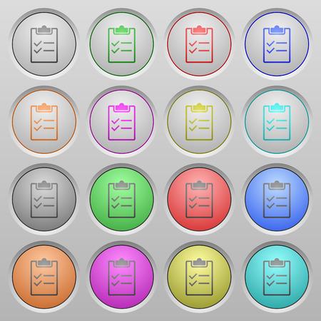 spherical: Set of checklist plastic sunk spherical buttons. Illustration