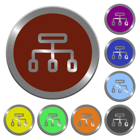 coinlike: Set of color glossy coin-like connect buttons.
