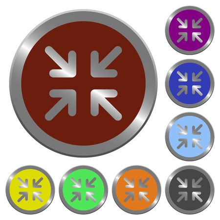 coinlike: Set of color glossy coin-like minimize buttons.