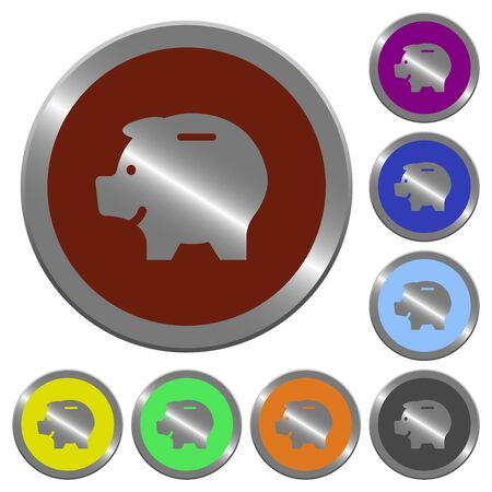 coinlike: Set of color glossy coin-like piggy bank buttons.