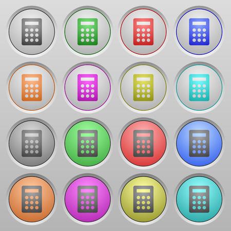 sunk: Set of calculator plastic sunk spherical buttons.