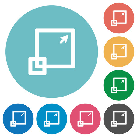 maximize: Flat maximize window icon set on round color background.