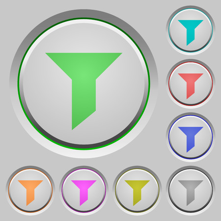 sunk: Set of color filter sunk push buttons.