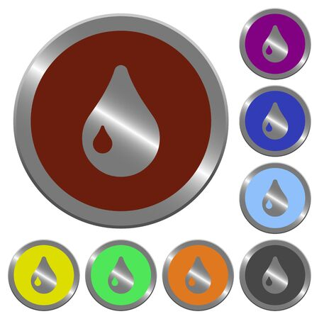 coinlike: Set of color glossy coin-like drop buttons. Illustration