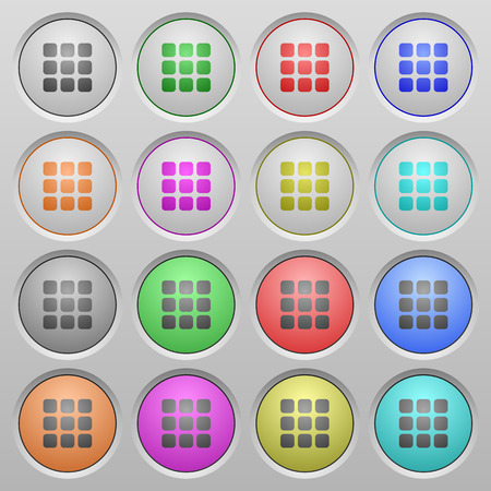 spherical: Set of Small grid view plastic sunk spherical buttons. Illustration