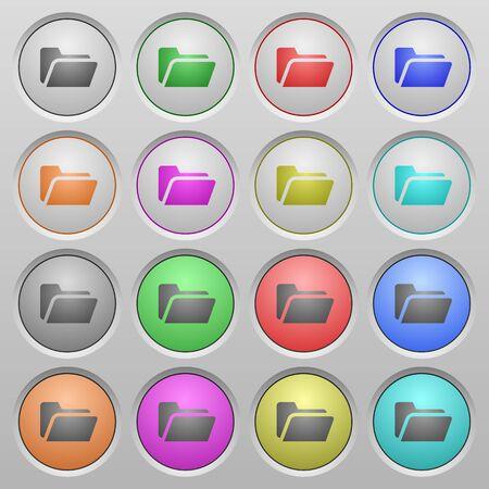 spherical: Set of Folder open plastic sunk spherical buttons.