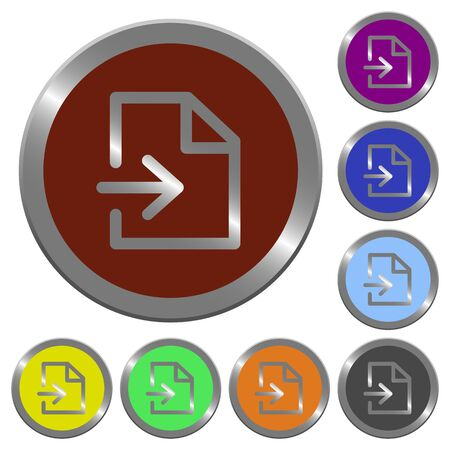 coinlike: Set of color glossy coin-like import buttons.