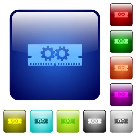 kilobyte: Set of color memory optimization glass web buttons.