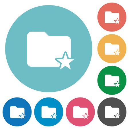 rank: Flat rank folder icon set on round color background.