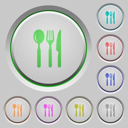 sunk: Set of color restaurant sunk push buttons.