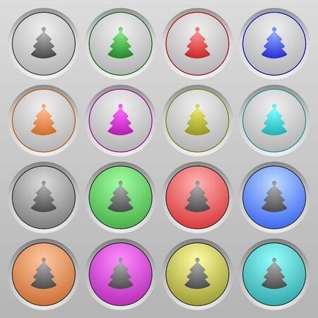 spherical: Set of Christmas tree plastic sunk spherical buttons. Illustration