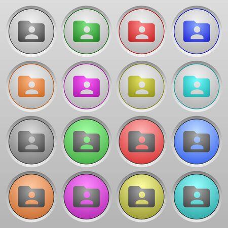 owner: Set of Folder owner plastic sunk spherical buttons.