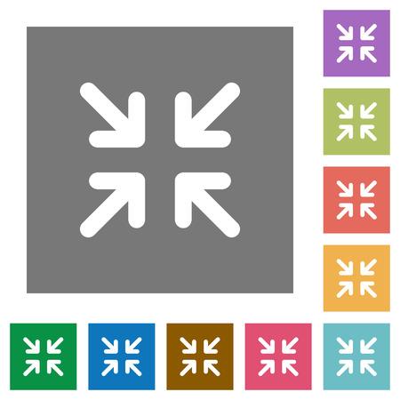 Reducir al mínimo conjunto de iconos planos en color de fondo cuadrado.